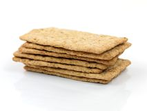 Savory Crackers. Isolated against a white background Royalty Free Stock Images