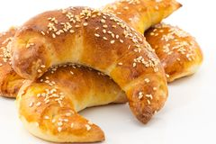 Savory croissants Stock Photography