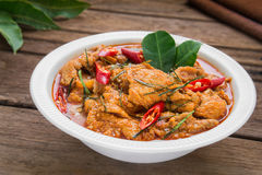 Savory curry with pork and coconut milk (Panaeng), Thai food Stock Image