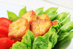 Savory fritters with vegetables Royalty Free Stock Photo