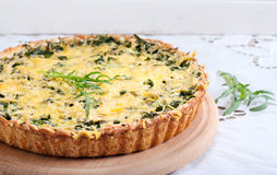Savory green tart Royalty Free Stock Photo