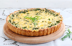 Savory green tart Royalty Free Stock Photography