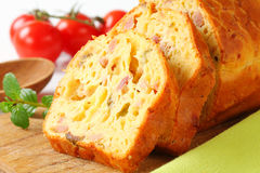 Savory ham and olive cake Stock Image