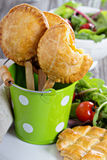Savory hand pies with chicken Stock Photography