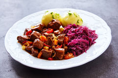 Savory Hungarian platter comprised of cabbage Royalty Free Stock Images