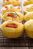 Savory muffins with corn flour Stock Images