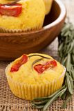 Savory muffins with corn flour Stock Photos