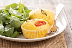 Savory muffins with corn flour Royalty Free Stock Photography