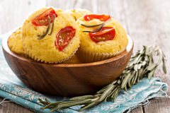 Savory muffins with corn flour Royalty Free Stock Image