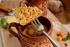 Savory muffins in a cup Stock Photos