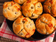 Savory muffins Stock Image