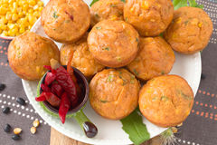 Savory muffins Royalty Free Stock Photos