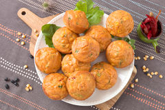 Savory muffins Royalty Free Stock Photography