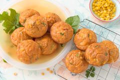 Savory muffins Stock Images