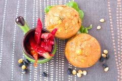 Savory muffins Stock Photo