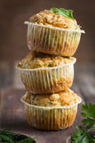 Savory muffins with zucchini and cheese Royalty Free Stock Images