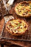 Savory mushroom tart in a crispy base Royalty Free Stock Image