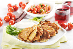 Savory pancakes Royalty Free Stock Photography