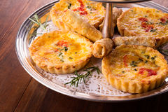 Savory pastry selection Stock Photos