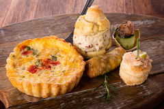 Savory pastry selection Stock Photography
