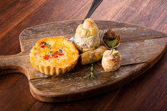 Savory pastry selection Royalty Free Stock Image