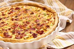 Savory pie with chicken Stock Image