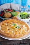 Savory pie with chicken Stock Photos
