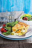Savory pie with chicken Royalty Free Stock Images