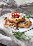 Savory pie. With reindeer meat Royalty Free Stock Photography