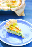 Savory pie with ricotta, parmesan and zucchini Royalty Free Stock Images