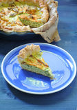 Savory pie with ricotta, parmesan and zucchini Stock Photo