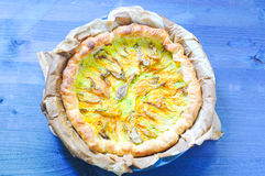 Savory pie with ricotta, parmesan and zucchini Royalty Free Stock Photo