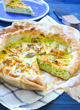 Savory pie with ricotta, parmesan and zucchini Royalty Free Stock Photos