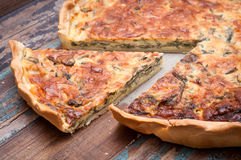 Savory pie. Savoury tart or pie made with chard and compte cheese Stock Images