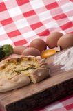 Savory pie with zucchini Stock Photos
