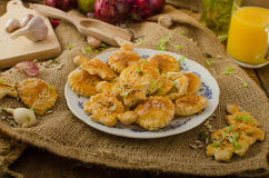 Savory puff pastry Royalty Free Stock Photos