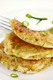 Savory Quinoa and Potato Pancakes Stock Images