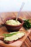Savory snacks, wild garlic Stock Image