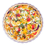 Savory tart with clipping path Royalty Free Stock Images