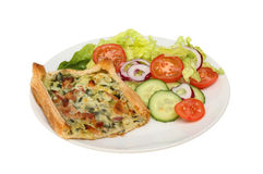 Savory tart and salad Stock Images