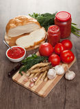 Savory tomato, garlic and horseradish Stock Photography