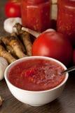 Savory tomato, garlic and horseradish Stock Photo