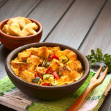 Savory Vegetarian Bread Pudding Stock Images