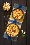Savory Vegetarian Bread Pudding Royalty Free Stock Photography