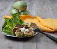 Savory Zucchini Fritters Royalty Free Stock Image