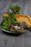 Savory Zucchini Fritters Stock Photos