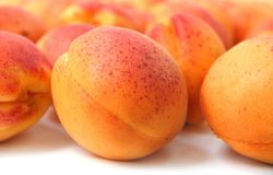 savoureux frais d'abricots Photo stock