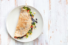 Savoury Buckwheat Pancake or Quesadilla Royalty Free Stock Images
