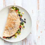 Savoury Buckwheat Pancake or Quesadilla Stock Photography