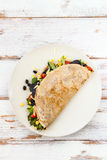 Savoury Buckwheat Pancake or Quesadilla Royalty Free Stock Photography